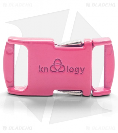 "Knottology Nito 1/2"" Full Metal Spring Assisted Snap Lock Buckle (Pink)"