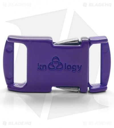 "Knottology Nito 1/2"" Full Metal Spring Assisted Snap Lock Buckle (Purple)"