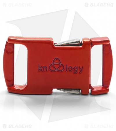 "Knottology Nito 1/2"" Full Metal Spring Assisted Snap Lock Buckle (Red)"