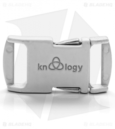 "Knottology Nito 1/2"" Full Metal Spring Assisted Snap Lock Buckle (White)"