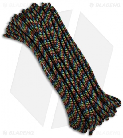 Dark Stripes 550 Paracord Nylon Braided 7-Strand Core (100') USA