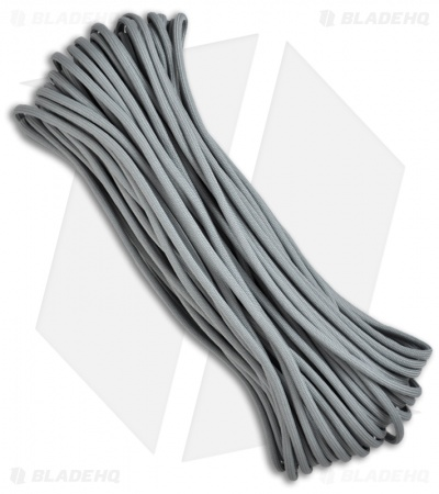 Gray 550 Paracord Nylon Braided 7-Strand Core (100') USA