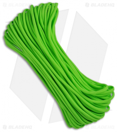 Neon Green 550 Paracord Nylon Braided 7-Strand Core (100') USA