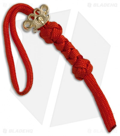 Grindworx X Schmuckatelli 18k Gold Knuckle Bead Lanyard (Red)