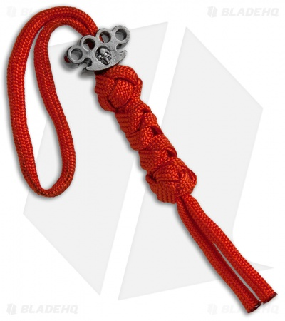 Grindworx X Schmuckatelli Hematite Knuckle Bead Lanyard (Red)