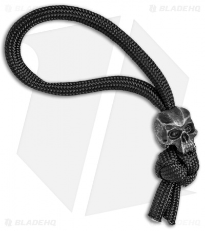 Schmuckatelli Cyber Skull Bead Diamond Knot Zipper Pull (Black)