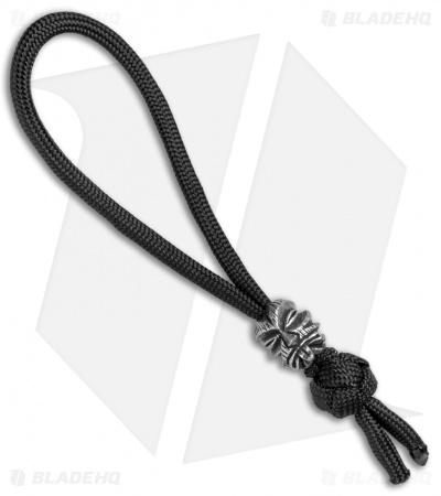 Schmuckatelli Kiko Bead Diamond Knot Zipper Pull (Pewter)