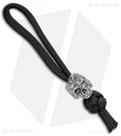 Schmuckatelli Mind Skull Diamond Knot Bead Zipper Pull (Pewter)