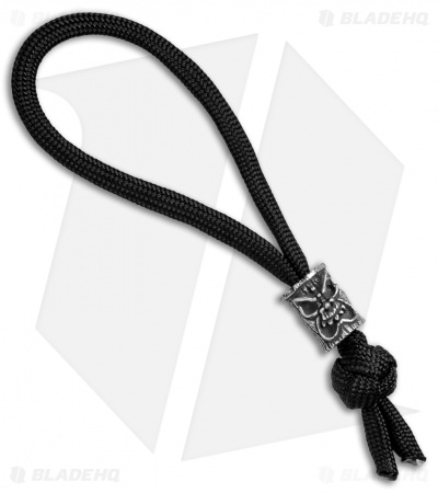 Schmuckatelli Ona Skull Bead Diamond Knot Zipper Pull (Pewter)