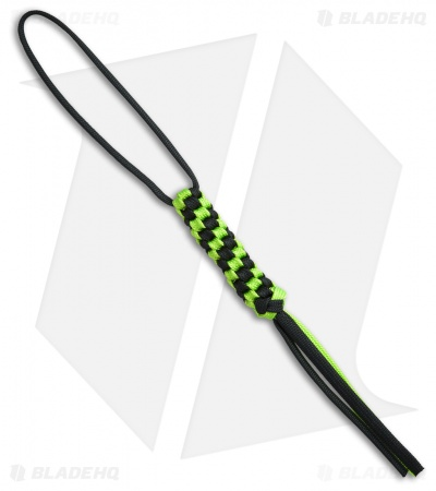 WE Knife Co. Tied Paracord Lanyard (Green/Black) A-03A