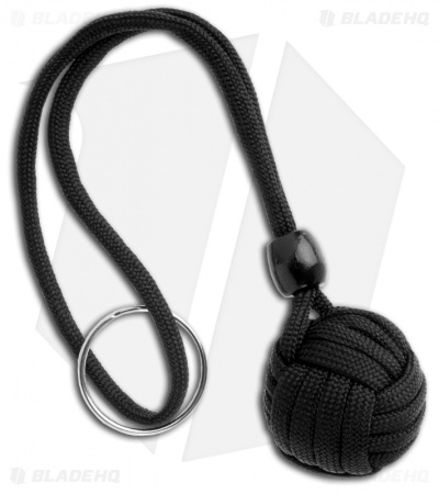 "Monkeyz Paw Black Paracord Lanyard (Small 3/4"" Ball)"