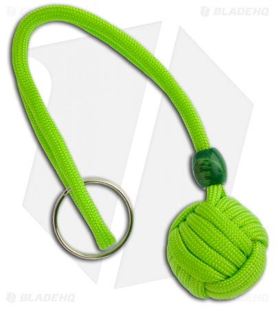 "Monkeyz Paw Lime Green Paracord Lanyard (Small 3/4"" Ball)"