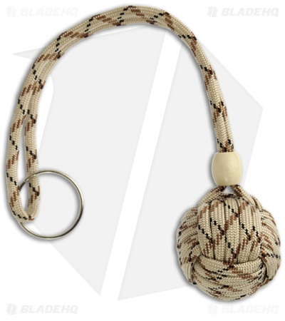 "Monkeyz Paw Sand Camo Paracord Lanyard (Large 1-1/4"" Ball)"