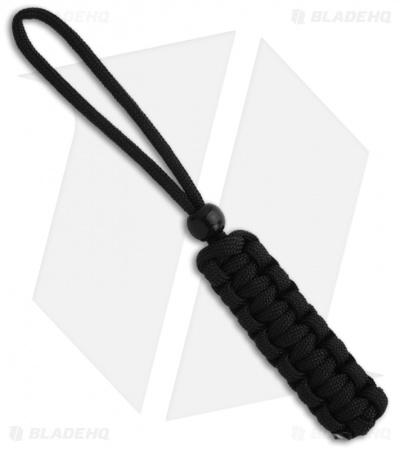 Paracord Big Flat Lanyard Black