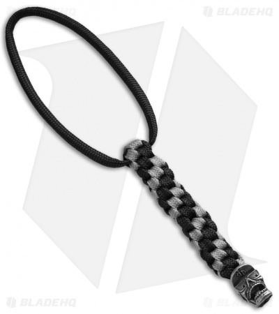 DPx Gear Mr. DP Bead Antique Pewter + Silver/Black Lanyard