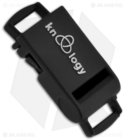 "Knottology Banshee 1"" Metal Whistle Snap Lock Buckle (Black)"