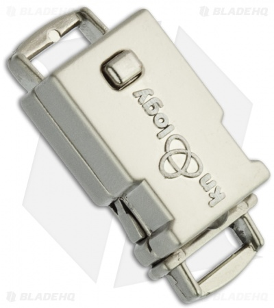 "Knottology Illuminator 3/4"" Metal LED Light Snap Lock Buckle (Silver)"