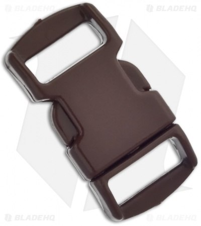 "Knottology 3/8"" Plastic Knot Clip Buckle (Dark Brown)"