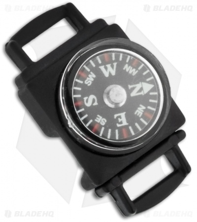 "Knottology Navigator 1"" Metal Compass Snap Lock Buckle (Black)"