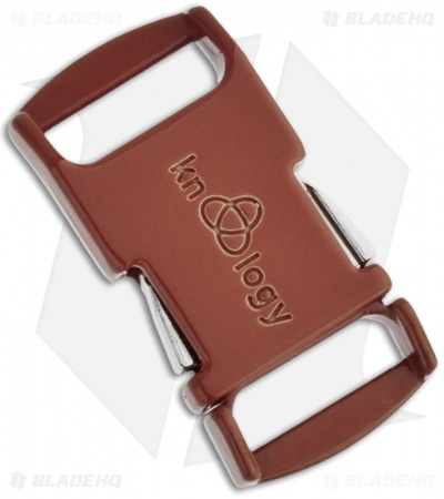 "Knottology Nito 1/2"" Full Metal Spring Assisted Snap Lock Buckle (Brown)"