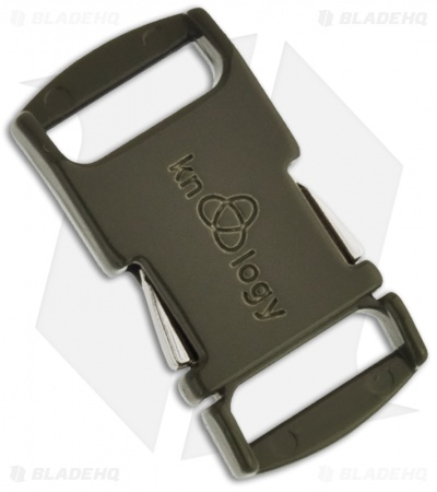 "Knottology Nito 1/2"" Full Metal Spring Assisted Snap Lock Buckle (Olive Drab)"