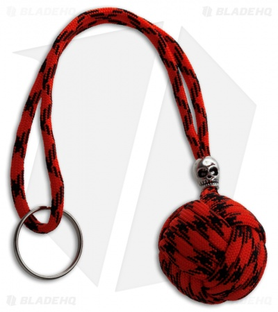 "Monkeyz Paw Red Digi Paracord Lanyard (Large 1-1/4"" Ball)"