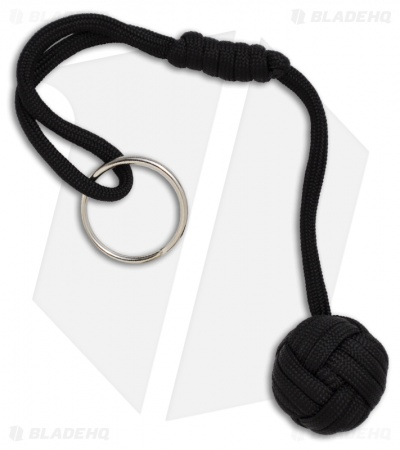 "Monkeyz Fist Black Paracord Lanyard Knot (Small 3/4"" Ball)"