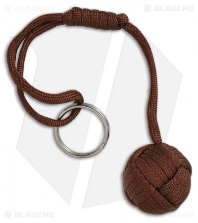 "Monkeyz Fist Root Beer Brown Paracord Lanyard Knot (Large 1-1/4"" Ball)"