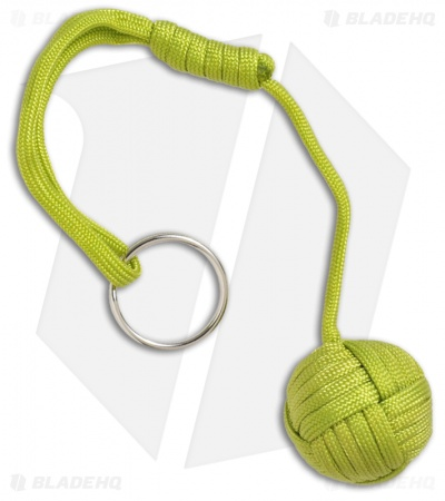 "Monkeyz Fist Lime Green Paracord Lanyard Knot (Large 1-1/4"" Ball)"