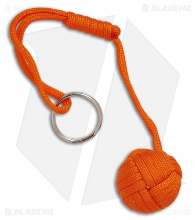 "Monkeyz Fist Orange Paracord Lanyard Knot (Large 1-1/4"" Ball)"
