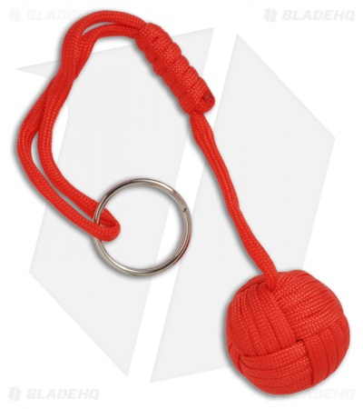 "Monkeyz Fist Red Paracord Lanyard Knot (Large 1-1/4"" Ball)"