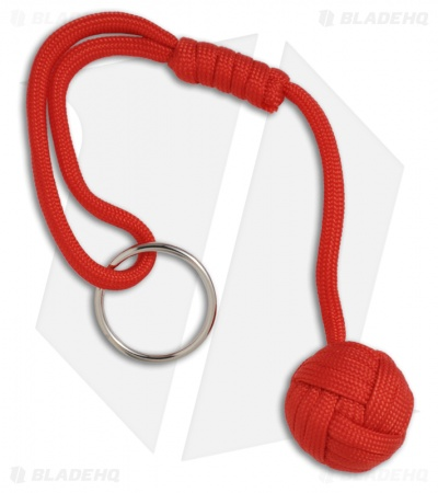 "Monkeyz Fist Red Paracord Lanyard Knot (Small 3/4"" Ball)"