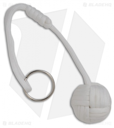 "Monkeyz Fist White Paracord Lanyard Knot (Large 1-1/4"" Ball)"