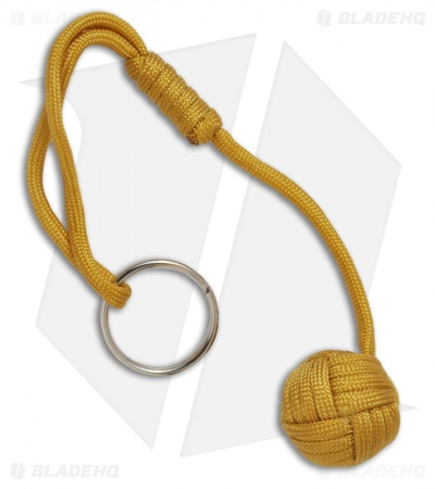 "Monkeyz Fist Mustard Yellow Paracord Lanyard Knot (Small 3/4"" Ball)"