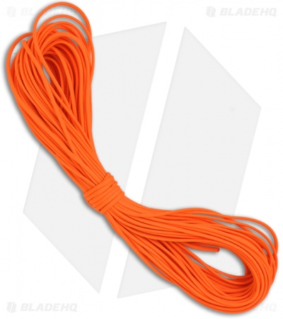 Orange 550 Paracord Nylon Braided 7-Strand Core (100') USA