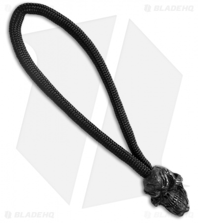 Schmuckatelli Grins Skull Bead Zipper Pull (Black Oxidized)