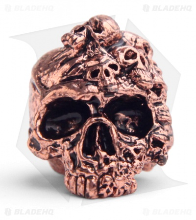 Schmuckatelli Mind Skull Lanyard Bead (Antique Copper Plated)