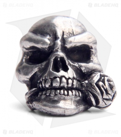 Schmuckatelli Rose Skull Lanyard Bead (Pewter)