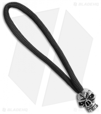 Schmuckatelli Emerson Skull Bead Zipper Pull (Pewter)