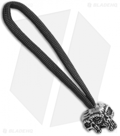 Schmuckatelli Gemini Twins Skull Bead Zipper Pull (Pewter)