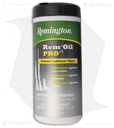 Remington Rem Oil Pro3 Premium Lubricant Wipes (60 Count)