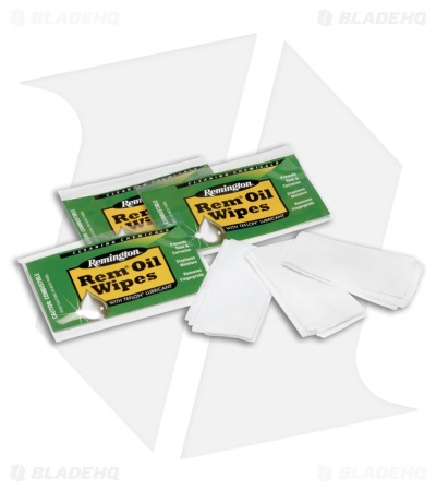 Remington Rem Oil Wipes  w/ Teflon Lubricant (12 Pack)