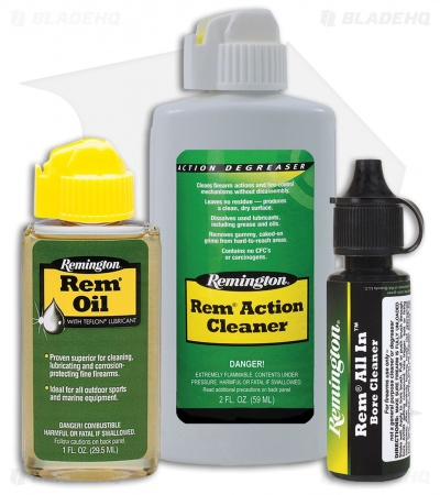 Remington Travel Size Lubricants and Cleaners 3-Piece Field Combo Pack