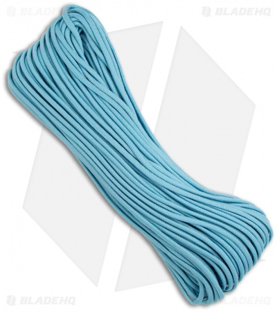 Carolina Blue 550 Paracord Nylon Braided 7-Strand Core (100') USA