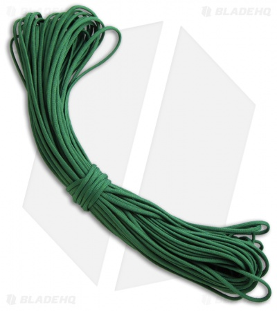 Green 550 Paracord Nylon Braided 7-Strand Core (100') USA