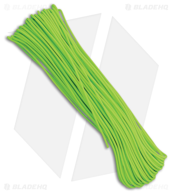Tactical Neon Green Nylon Braided 275 Paracord (100')