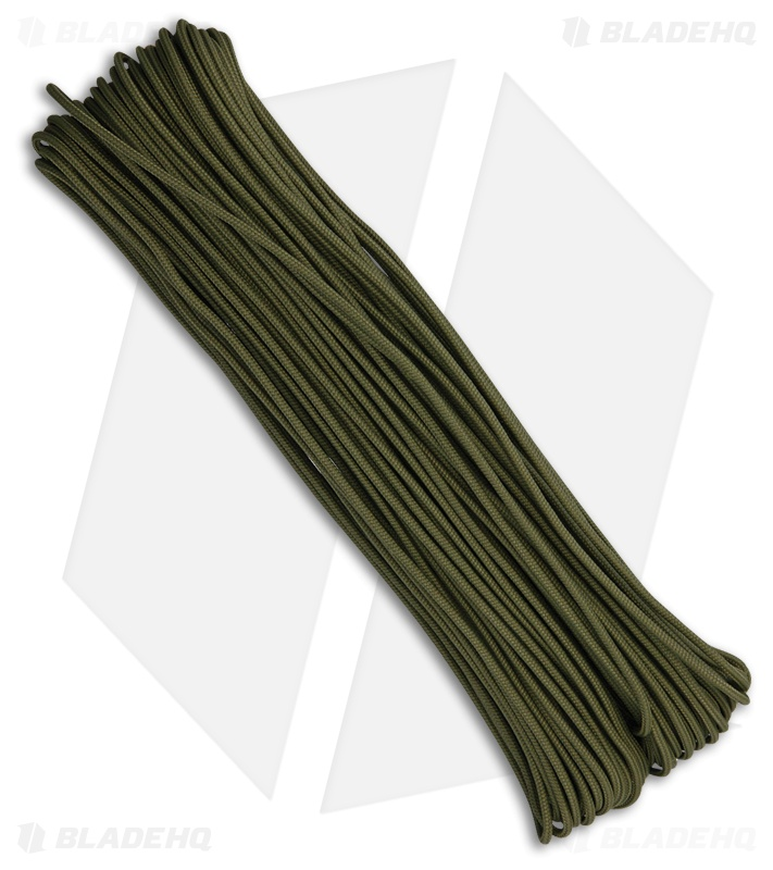 Tactical Nylon Braided 275 OD Green Paracord (100')