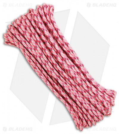 Pink Camo 550 Paracord Nylon Braided 7-Strand Core (100') USA