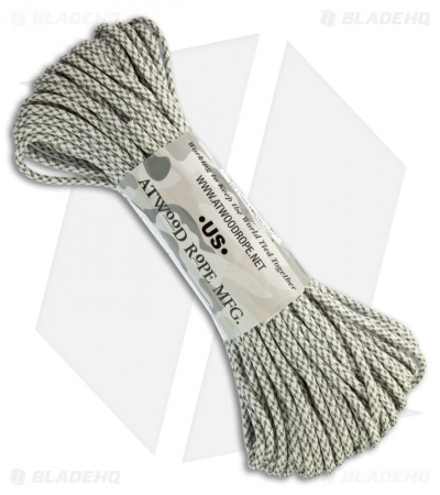 Arctic Camo 550 Paracord Nylon Braided 7-Strand Core (100') USA