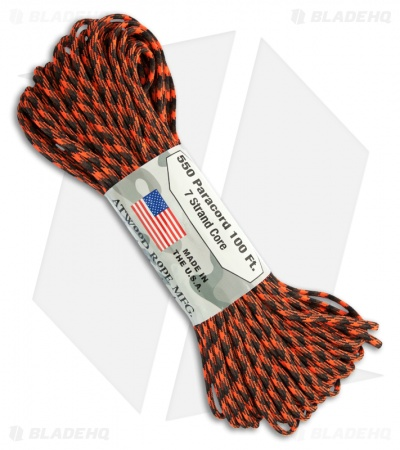 Open Season 550 Paracord Nylon Braided 7-Strand Core (100') USA